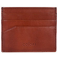 Pure Luxuries London - Cognac 'Trento' Italian-inspired leather RFID card carrier