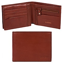 Pure Luxuries London - Cognac 'Modena' Italian-inspired leather RFID wallet