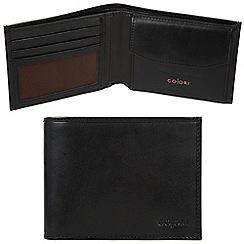 Pure Luxuries London - Black 'Bari' Italian-inspired leather RFID wallet