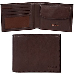 Pure Luxuries London - Brown 'Bari' Italian-inspired leather RFID wallet