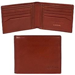 Pure Luxuries London - Cognac 'Forli' Italian-inspired leather RFID wallet
