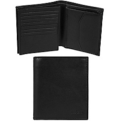 Pure Luxuries London - Black 'Taranto' Italian-inspired leather RFID wallet