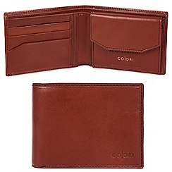 Pure Luxuries London - Cognac 'Palermo' Italian-inspired leather RFID wallet