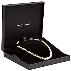 Pure Luxuries London - Gift packaged graduated 4-8.5mm freshwater pearl and 9ct yellow gold necklace