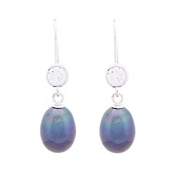Pure Luxuries London - Gift packaged peacock colour and cubic zirconia drop earrings