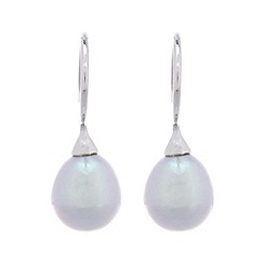 Pure Luxuries London - Gift boxed 'Eloise' 8-8.5mm grey river pearl earrings