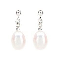 Pure Luxuries London - Gift packaged 'Roseanne' white freshwater pearl drop earrings