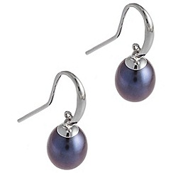 Pure Luxuries London - Gift packaged 'Anahera' peacock river pearl earrings