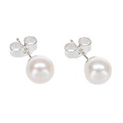 Pure Luxuries London - Gift packaged 6-6.5mm round river pearl earrings