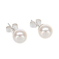 Pure Luxuries London - Gift boxed 'Stephanie' 7-7.5mm river pearl earrings