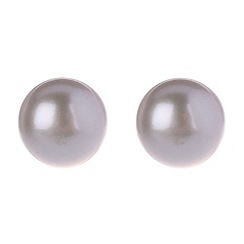 Pure Luxuries London - Gift packaged 8-8.5mm grey mabe pearl earrings
