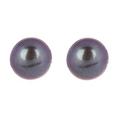 Pure Luxuries London - Gift packaged 8-8.5mm peacock colour mabe pearl earrings