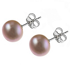Pure Luxuries London - Gift boxed 'Danette' 8-8.5mm mabe pearl earrings