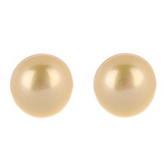 Pure Luxuries London - Gift boxed 'Desiree' 8-8.5mm yellow mabe pearl earrings