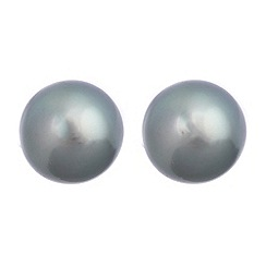 Pure Luxuries London - Gift packaged 10mm 'Tahitian pearl' and 18ct white gold earrings