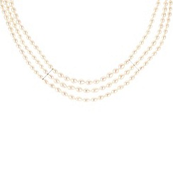 Pure Luxuries London - Gift packaged three-row rice pearl necklace