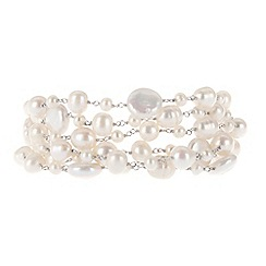 Pure Luxuries London - Gift packaged mixed white pearl bracelet