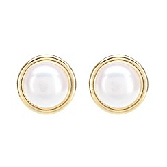 Pure Luxuries London - Gift packaged 5.5-6mm freshwater pearl and 9ct yellow gold earrings