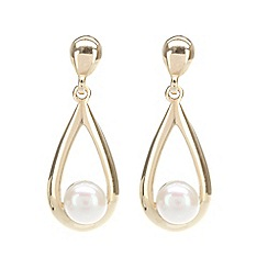 Pure Luxuries London - Gift packaged freshwater pearl and 9ct yellow gold earrings