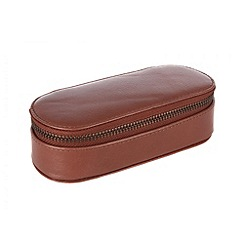 Conkca London - Cognac 'Zipit' veg-tanned leather glasses case