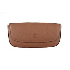 Conkca London - Chestnut 'Mallard' veg-tanned leather glasses case