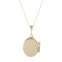Pure Luxuries London - Gift packaged 9ct yellow gold oval locket