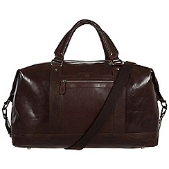Conkca London - Darkest brown 'Monty' leather holdall