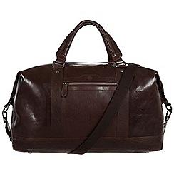 Conkca London - Darkest brown 'Monty' leather holdall