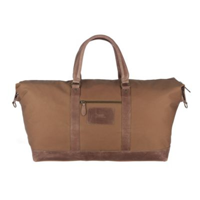 Conkca London Brown ´Monty XL´ waxed canvas & leather holdall - . -