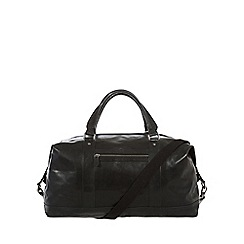 Conkca London - Black 'Monty' handcrafted leather holdall