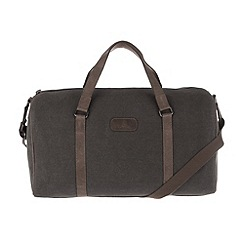 Conkca London - Slate 'Cassius' vintage canvas and leather holdall