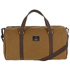 Conkca London - Bark brown 'Cassius' canvas and leather holdall
