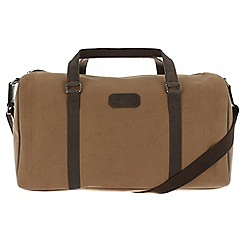 Conkca London - Bark brown 'Cassius' canvas and vintage leather holdall