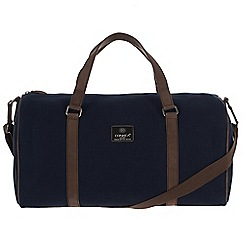 Conkca London - Navy 'Cassius' canvas and leather holdall