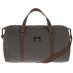 Conkca London - Slate 'Cassius' canvas and leather holdall