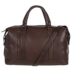 Conkca London - Dark brown 'Duran' handcrafted leather holdall