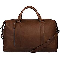 Conkca London - Dark brown 'Duran' genuine leather holdall