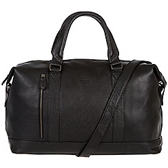 Conkca London - Oxford black 'Duran' handcrafted leather holdall