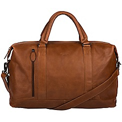 Conkca London - Whiskey 'Duran' genuine leather holdall