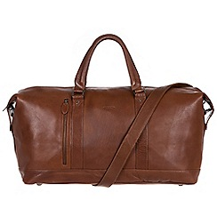 Conkca London - Conker brown 'Liston' handcrafted leather holdall