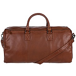 Conkca London - Conker brown 'Norton' handcrafted leather holdall