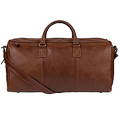 Conkca London - Conker brown 'Norton' real leather holdall