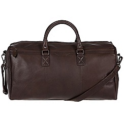 Conkca London - Dark brown 'Norton' handcrafted leather holdall