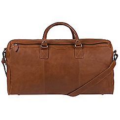 Conkca London - Whiskey 'Norton' real leather holdall