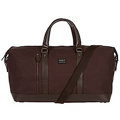 Conkca London - Brown 'Frasier' 16oz canvas and leather holdall