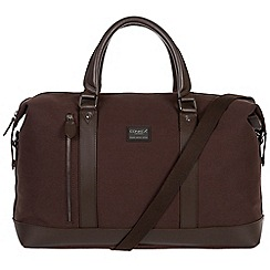 Conkca London - Brown 'Spinks' 16oz canvas and leather holdall