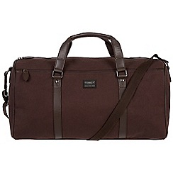 Conkca London - Brown 'Dempsey' 16oz canvas and leather holdall