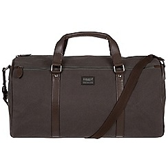 Conkca London - Grey 'Dempsey' 16oz canvas and leather holdall