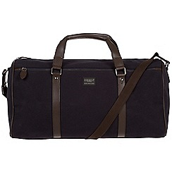 Conkca London - Navy 'Dempsey' 16oz canvas and leather holdall