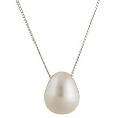 Pure Luxuries London - Gift boxed 'Wyona' 9.5mm white teardrop river pearl necklace